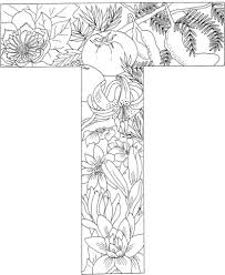 Click To See Printable Version Of Letter T With Plants Coloring Page