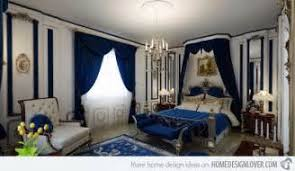 royal blue and white bedroom deep
