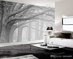 großhandel 3d wallpaper wohnzimmer schlafzimmer wandbilder moderne schwarz weiß wald baum kunst tv wandbilder tapete für wände 3 d xunxun66 13 75