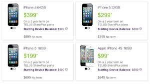 TELUS Launches 2 Year Term iPhone 5 Prices $199 $299 and $399 u