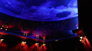 Fibre Optic Ceiling Lighting by Nigh Sky Moon And Stars Printed Ceiling With Led And Fiber Optic