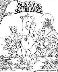 Zombie Island Scooby Doo S Halloweenccca Coloring Pages Printable