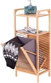 gaojian bambus badregal mit abnehmbarem wäschekorb