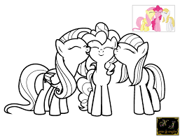 My Little Pony Coloring Pages Pinkie Pie And Rainbow Dash Download