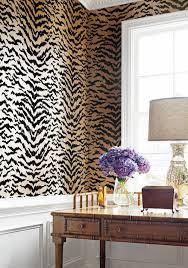 Zebra Print Bedroom Decorating Ideas by Amazing Animal Print Wallpaper Ideas Shoproomideas Thibaut Design