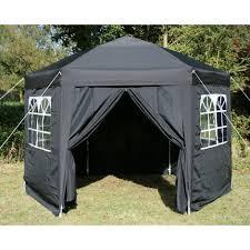 Airwave Hexagon Pop Up Gazebo Fully Waterproof 3 5m in Black ES