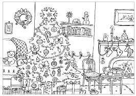 Hard Christmas Colouring Pages To Print Printable Complex Coloring Images