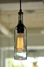 Hanging Wine Bottle Lights For Unique And Creative Decoration Single Lighting Feature Made From Transparent