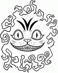 Cheshire Cat Smile Pumpkin Template by Drawn Cheshire Cat Black And White Pencil And In Color Drawn