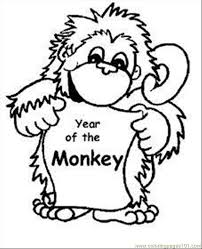 Monkey Colouring Pages Online Coloring Page Aby Med Animals Gt
