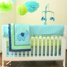 Pam Grace Creations ZigZag Elephant 10 piece Crib Bedding Set
