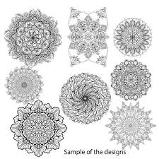 50 Mandalas To Color Sample