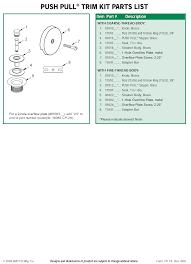 Bathtub Overflow Plate Adapter Bar by Push Pull Tub Trim Kits