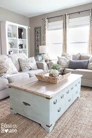 21 Light Blue Coffee Table With Internal Storage