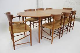 Room Stunning Peter Hvidt Dining Set With Eight Chairs