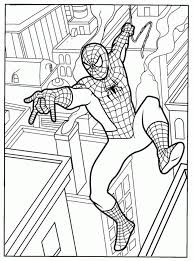 Printable Free Spiderman Coloring Pages