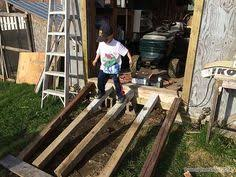 build wood ramp for shed ramps pinterest diy woodworking and