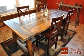 Build Your Own Kitchen Table Rustic Farm Diy Island Combo