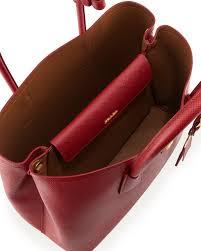 Neuman Christmas Tree Bags by Prada Saffiano Cuir Double Medium Tote Bag Neiman Marcus