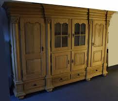 wohnzimmer schrank eiche hell massiv belgischer stil 289x62x189
