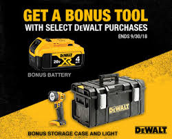 Get A Bonus Tool With Select DeWALT Purchases