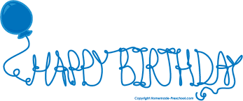 Blue Birthday Clipart