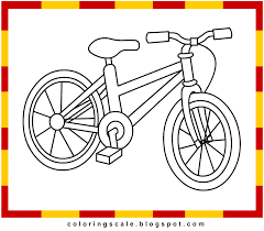 Coloring Pages Printable For Kids Bicycle