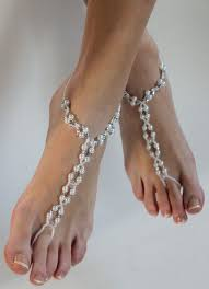 bridal barefoot sandals handmade custom beach wedding sandals
