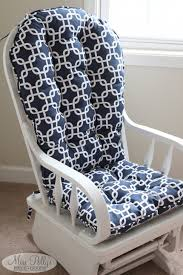 Custom Farmhouse White Rocking Chair Cushion Set ...