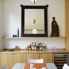 Modern Dining Room Features Built In Bar