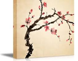 Japanese Cherry Blossom Bathroom Set by Japan Cherry Blossom Painting Etsy