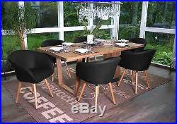 chaise fauteuil salle manger 6x chaise de salle à manger malmö t633 fauteuil design rétro