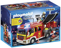 100 Playmobil Fire Truck Amazoncom PLAYMOBIL Engine With Lights And Sound Toys Games