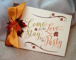 Come For The Love Wedding Invitation Fall Autumn Leaf