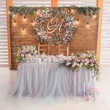 Love The Backdropit Needs A Lil Creative Makeover For Personalized Perfection Head Table Wedding DecorationsRustic