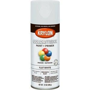 Krylon K05548007 COLORmaxx Spray Paint Flat White 12 Ounce