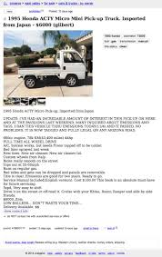 100 Phx Craigslist Cars Trucks For 6000 This 1995 Honda Acty Could Be Your MicroMini Machine