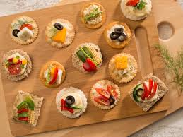 and easy canapes veg canapes recipe