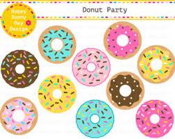 Kawaii Donuts Clipart Cute Donut Doughnuts Clip