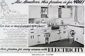 Advert For A Typical 1950s American Kitchen Dated 20th Century