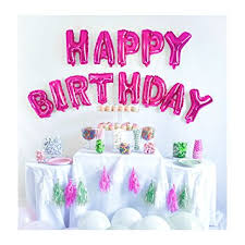 HAPPY BIRTHDAY BALLOONS Birthday Banner Birthday Decorations Party Supplies 16