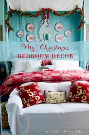 My Christmas Bedroom Decor Red White Turquoise And