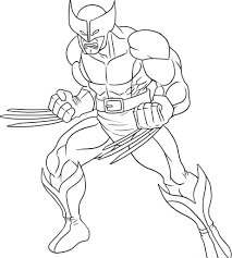 Printable Coloring Book Free Wolverine Pages For Kids Superhero
