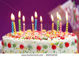 Birthday Cake With Picture Birthday Cake With Candles Purple Background Download Happy Birthday Elegance