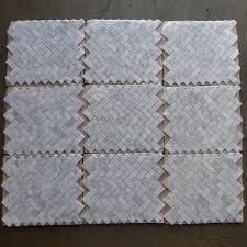carrara marble tile italian white 1x2 herringbone mosaic