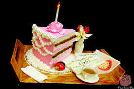 Faux slice of cake for Ninetieth birthday
