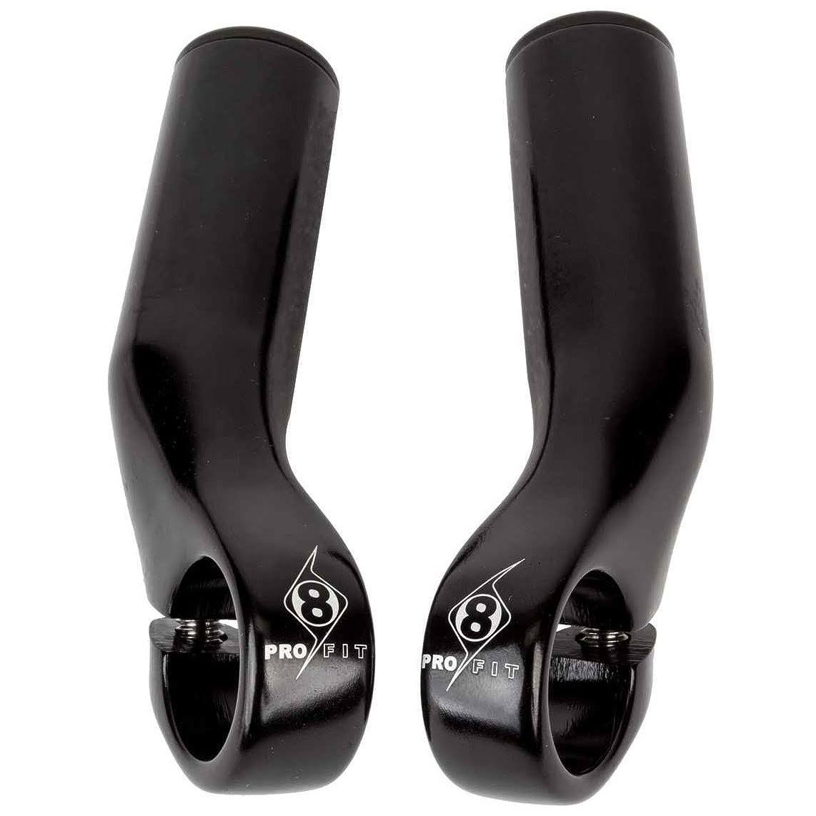Origin8 Pro Lite Alloy Bar Ends - Black