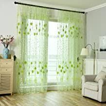 tonsee transparent voile gardinen mode blumen gedruckt