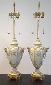 Marbro Lamp Company Los Angeles by Pair Vintage Wedgwood Style Lamps By Marbro Lamp Co Cameo Figural