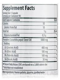 Pumpkin Seed Oil Capsules India by Capsules 90 Softgels Capsules